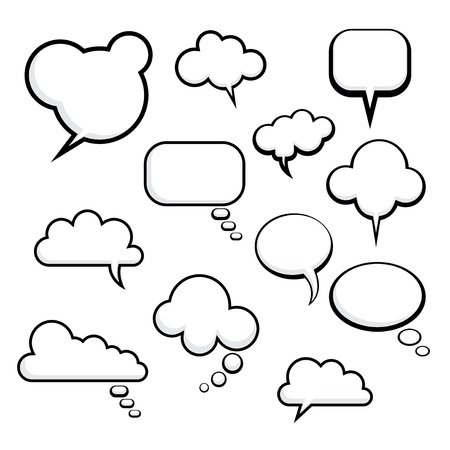 bubble icon: comic speech bubbles