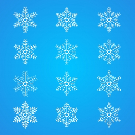 snow crystal: Snowflakes icon collection