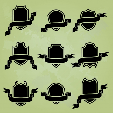 black award icons Vector