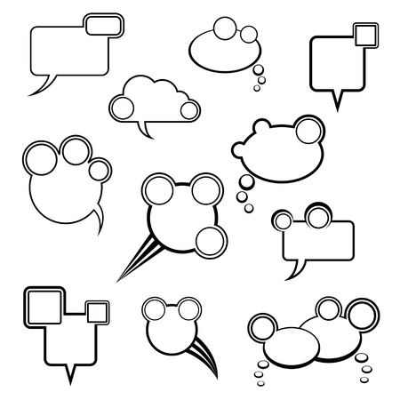 collection of comic bubbles Stock Vector - 17385268