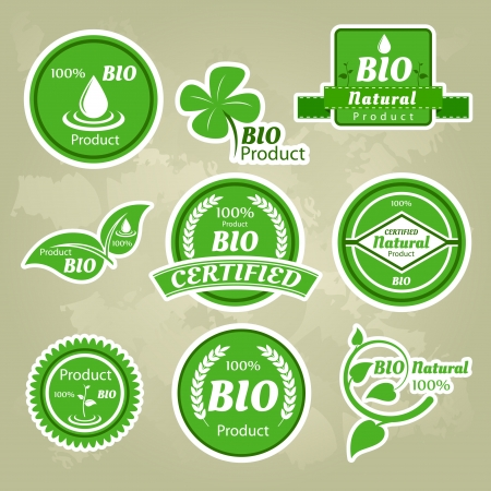 Collection of eco and bio labels, badges and icons Stock Vector - 17385306