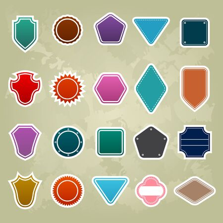 set of Colorful Promotional stickers Vector