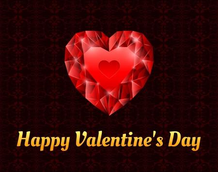 diamond red heart Stock Vector - 17670803