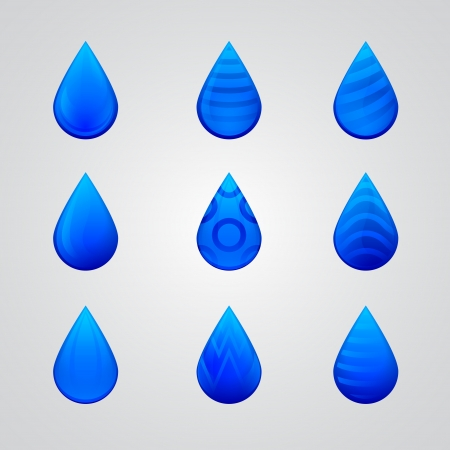 blue drop icon Stock Vector - 17670844