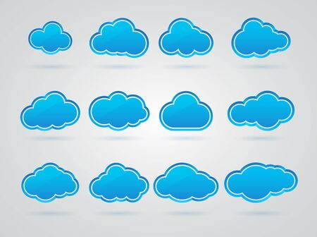 Collection of Blue clouds Stock Vector - 17670831