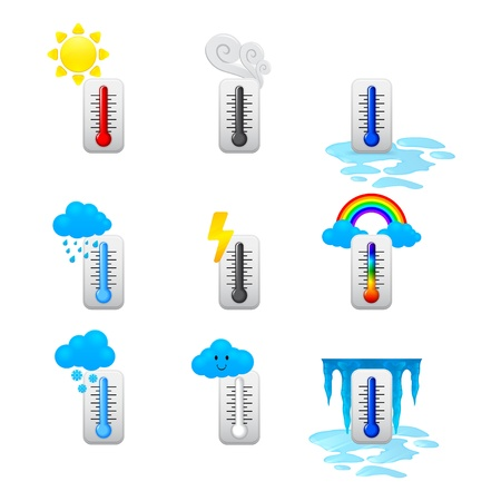 different thermometer icons set Stock Vector - 17670841