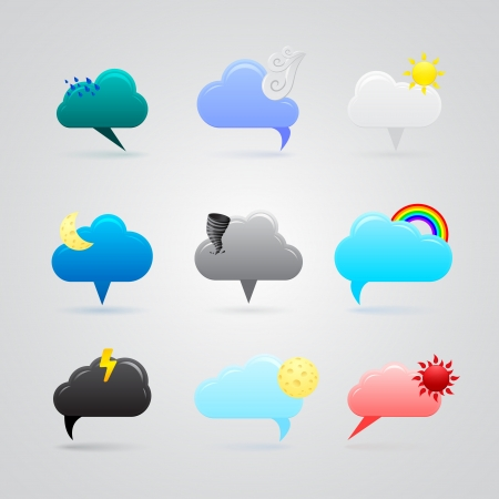 set of colorful weather icons Stock Vector - 17670837