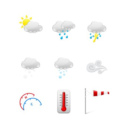 Set of Weather icons Stock Vector - 17670843