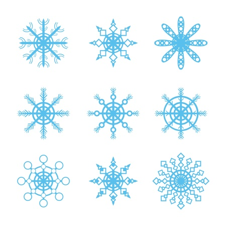 snowflakes icons set Stock Vector - 17670832
