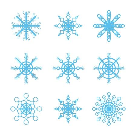 snowflakes icons set Stock Vector - 17670832