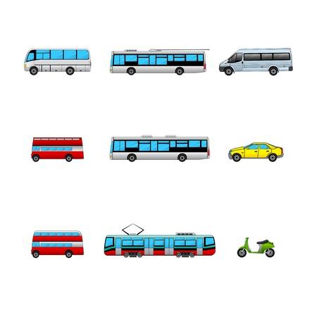 public transport color icons