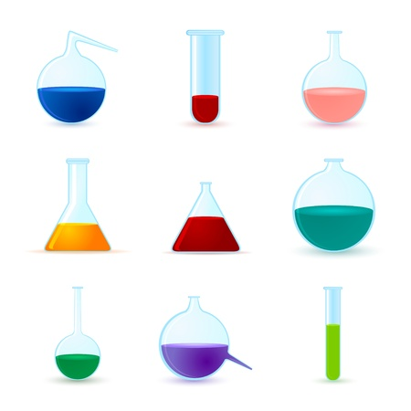 set of chemical icons Stock Vector - 17670864
