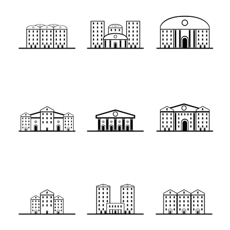 silhouettes of houses Stock Vector - 17670873