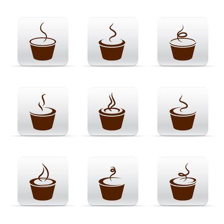 Coffee icon set Stock Vector - 17670881