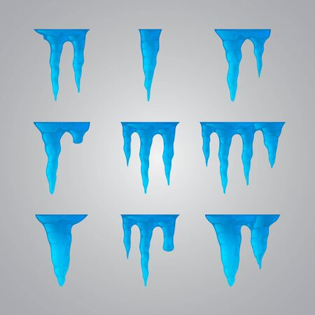 Set of icicles Stock Vector - 17670906