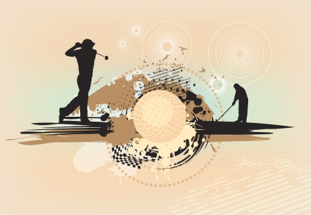 golfing: abstract brown golf background