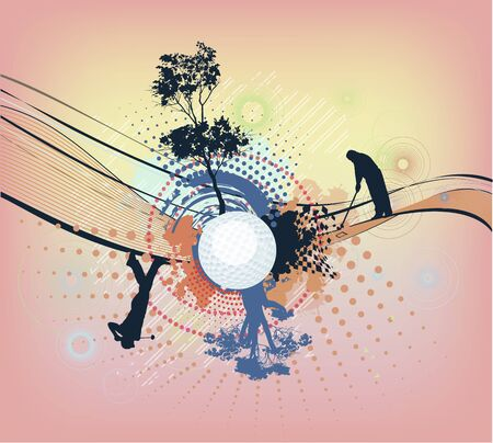 abstract colorful golf background Stock Vector - 17879020