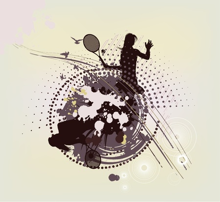 backhand: abstract tennis background