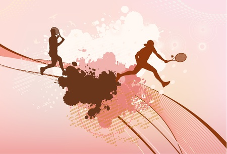 tennis girl: tennis players background