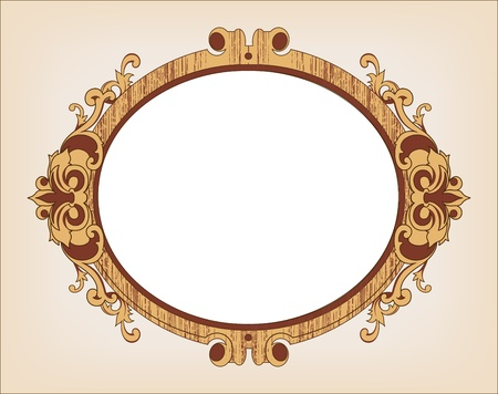 Decorative oval vintage frame Illustration