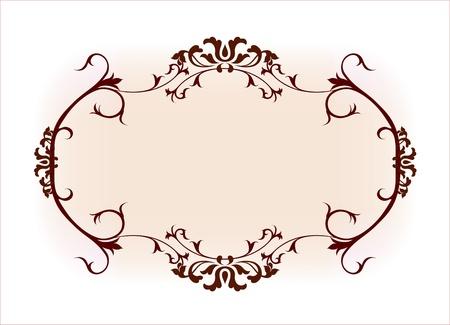 marriage invitation: Vintage frame