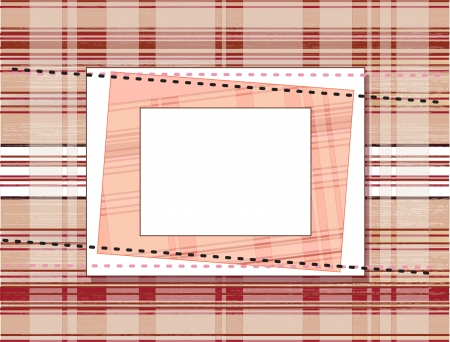 retro fashion: Template frame design for greeting card