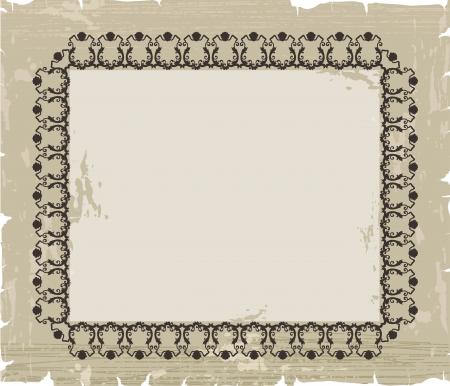 etiqueta: Vintage pattern background Illustration