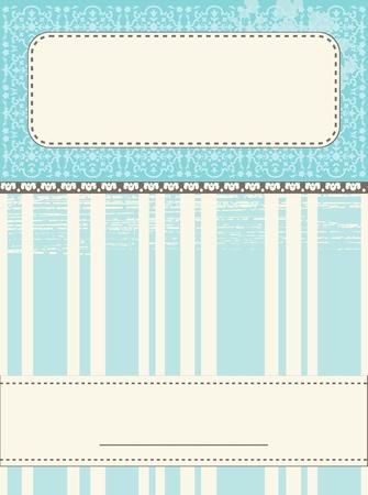 Scrap Template Card Stock Vector - 17879357