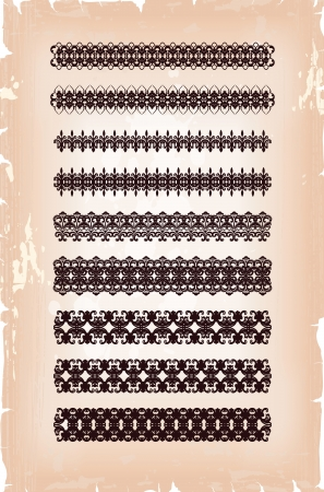 set of abstract arabesque pattern Vector