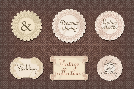 vintage labels collection Stock Vector - 18157399