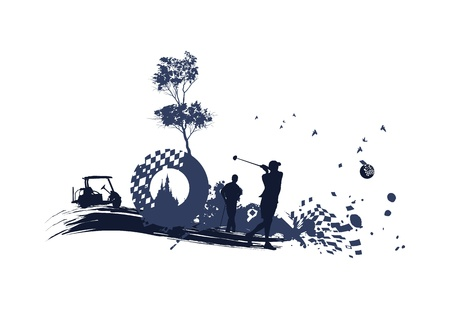 different Golf Silhouettes Ilustrace