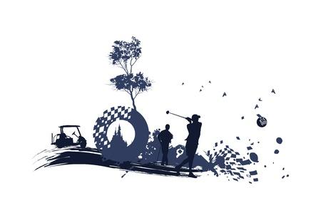 different Golf Silhouettes Stock Illustratie