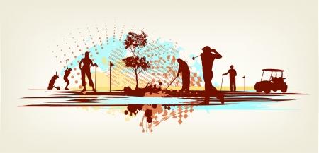 golfclub: golfclub achtergrond Stock Illustratie