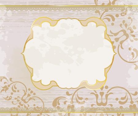 lucid: lucid gold frame background Illustration