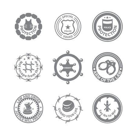 Set of protection badges and labels Stock Vector - 18593633
