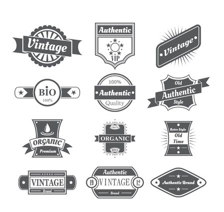 badge ribbon: Set of vintage  labels