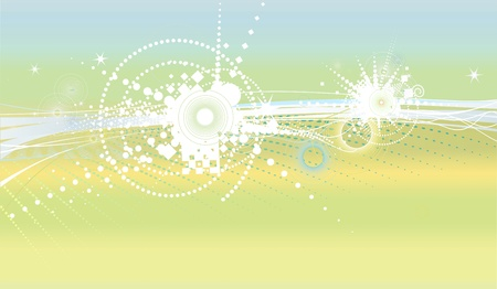 Style wallpaper with stars and circles Vector