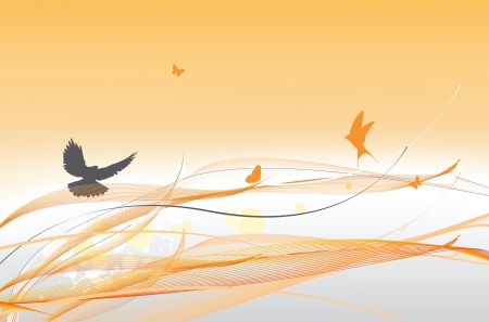 abstract colorful background with butterfly Vector