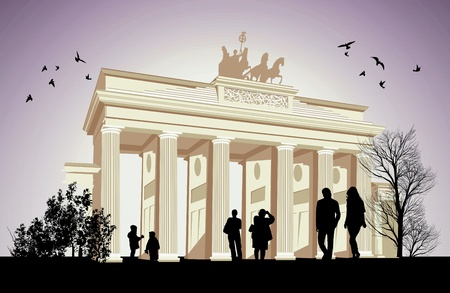 gateway: The Brandenburger Gate ancient gateway to Berlin, Germany