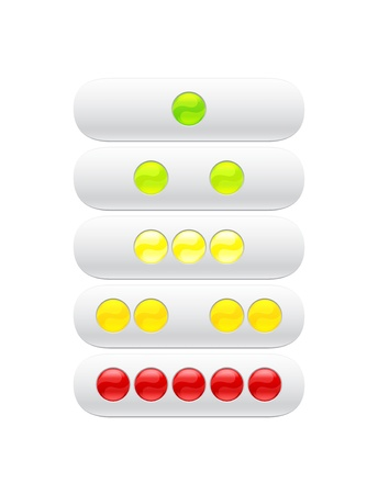 green, red, yellow balls for web Vector