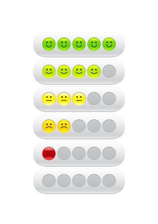indicatore: barra di caricamento con sorrisi