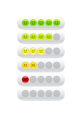 loading bar with smiles Vector