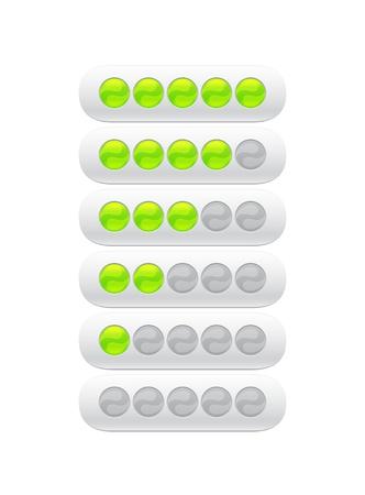 partially: progress bar from green circles
