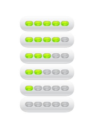 partially: progress bar from green ovals