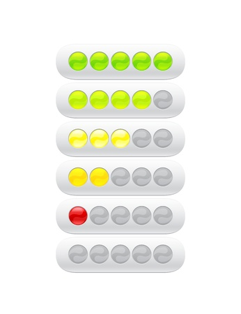 partially: progress bar from many color circles