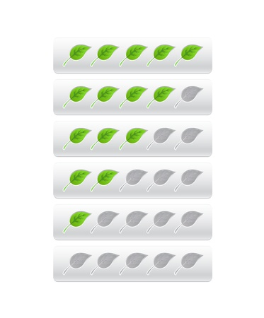rating from green leaves Stock Vector - 19267897