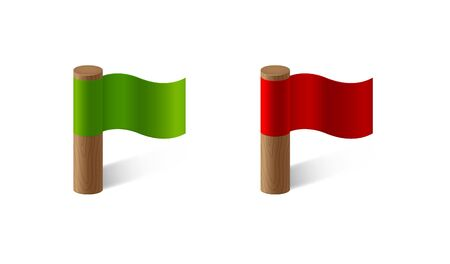 red and green flags Vector