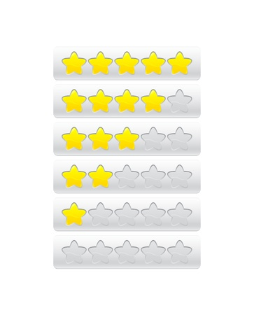 yellow progress bar from stars Stock Vector - 19267899