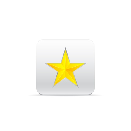 yellow star for award Vector