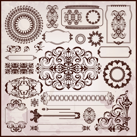 arabesque antique: floral textures in rococo style